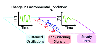 Early warning signals in chemical reaction networks